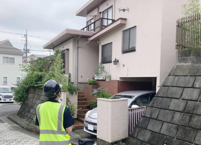 岡竹JAPANドローン屋根点検調査20210703